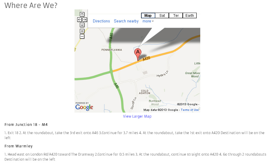 how to add google map link to my website